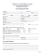 Client Information Form Adult