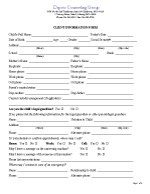 Client Information Form Child